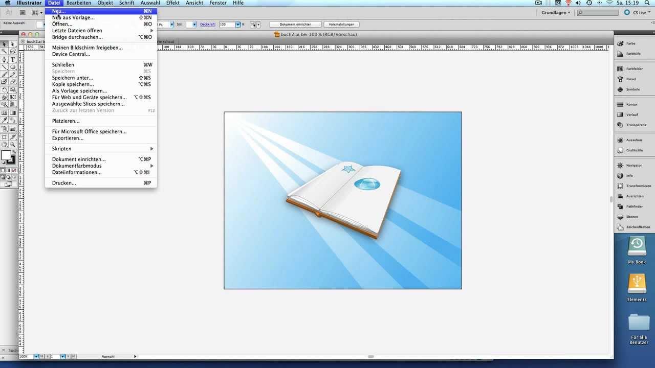 Buch erstellen Teil1 - Adobe Illustrator CS5 - YouTube