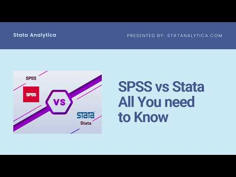 SPSS vs Stata: All You need to Know