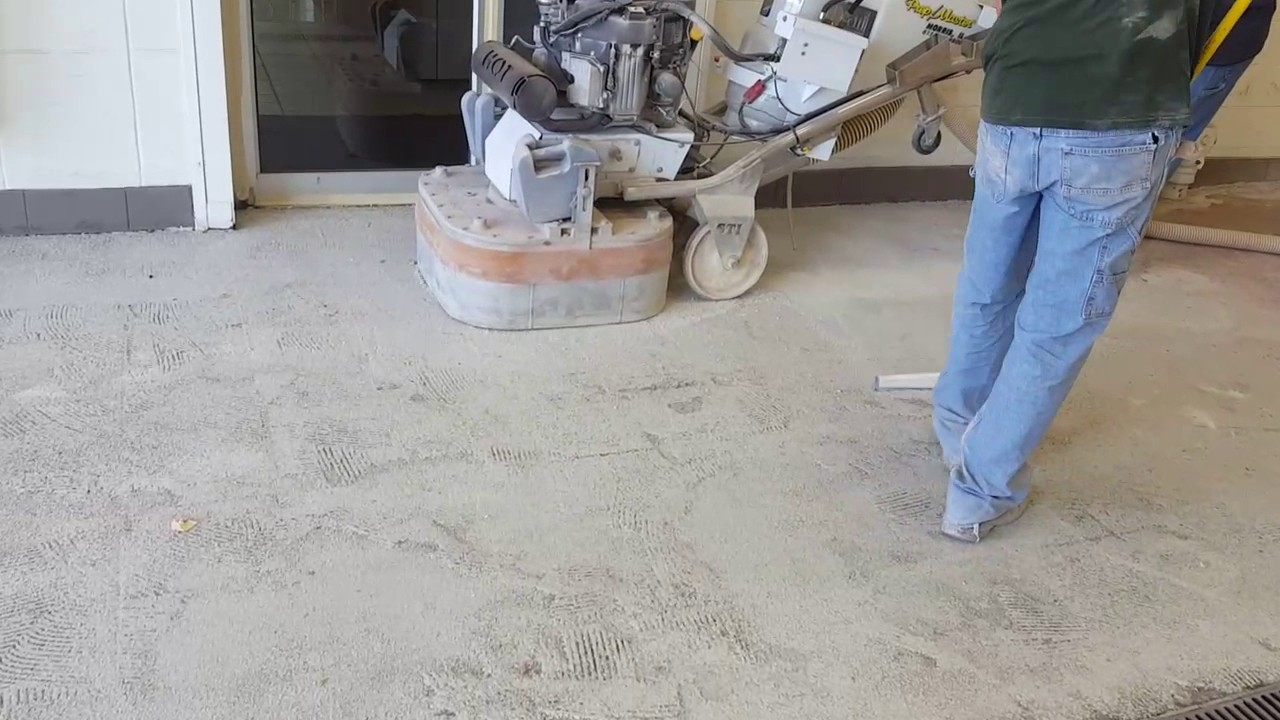 Concrete Epoxy Removal Grinding