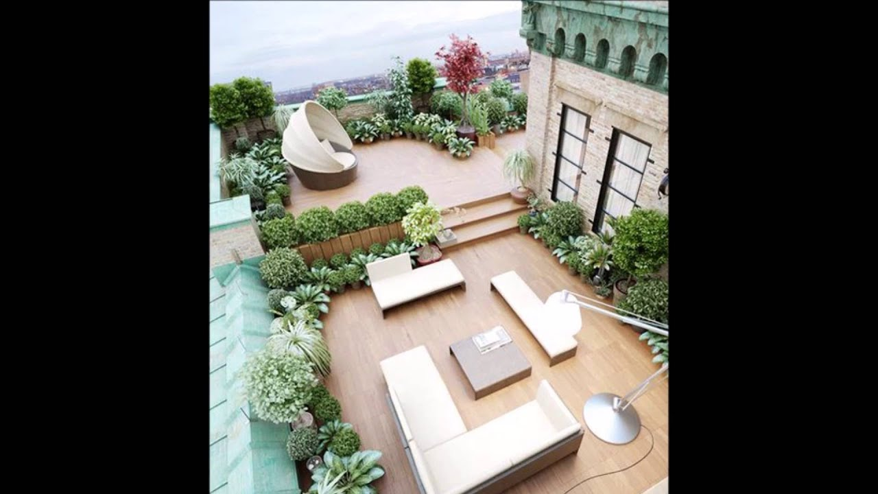 Paisajismo y jardineria ideas de terrazas aticos youtube for Paisajismo terrazas