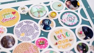 Scrapbook Circle Process Video - How to Create Layouts with Die Cut Background