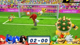 Mario & Sonic At London 2012 Olympic Games Football #54 With Shadow, Sonic, Metal Sonic, Knuckles