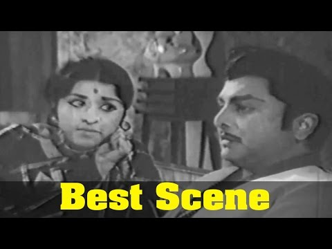 Puguntha Veedu Movie : AVM Rajan, And Chandrakala, Best Scene