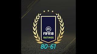 MEDIAS DE FIFA 18 OFICIALES!!! DEL 80 al 61 HABLANDO SOBRE ELLOS