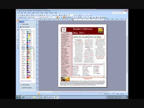 Using Microsoft Publisher 2007 in the Public Library