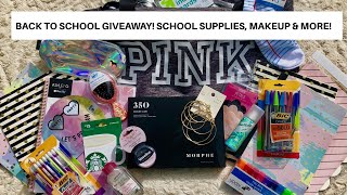 BACK TO SCHOOL GIVEAWAY | HUGE GIVEAWAY OF SCHOOL SUPPLIES, MAKEUP, ACCESSORIES, AND MORE