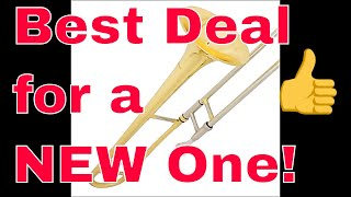 BEST NEW CHEAP BEGINNER STUDENT Mendini TROMBONE for High School Band case and mouthpiece included