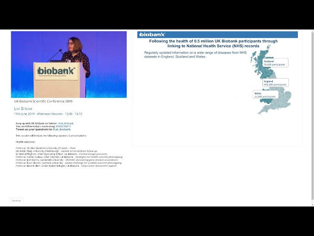 Ms Robin Flaig - Update on UK Biobank Follow up