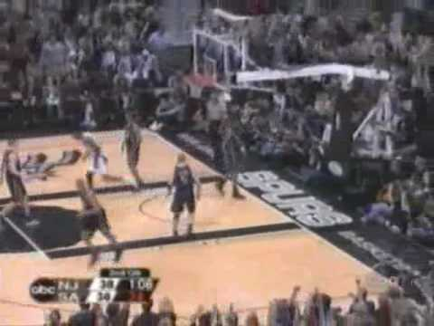 Tim Duncan (21pts/20rebs/10asts/8blks) Close to Quadruple Double (2003 Finals)