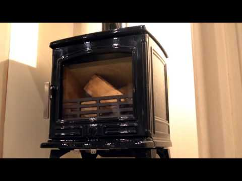 ACR Stoves Oakdale Gloss Black Enamel 5kw Output Multifuel Stove