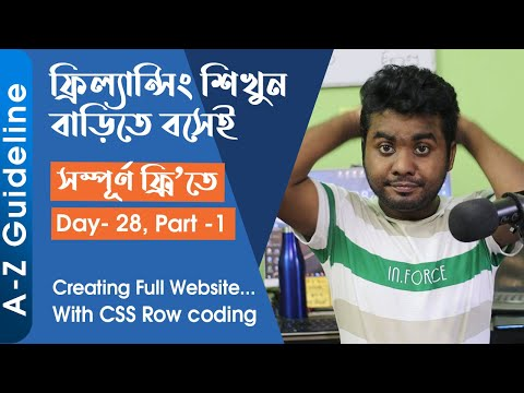 Day - 28 || Part-1 | Creating Full Website With HTML, CSS Row Coding...