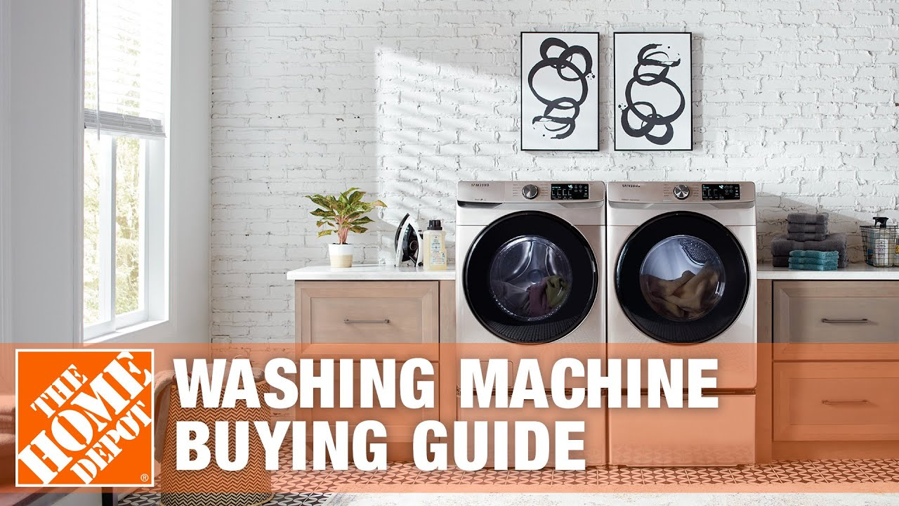 Types Of Washing Machines Washing Machine Buying Guide The Home Depot Youtube