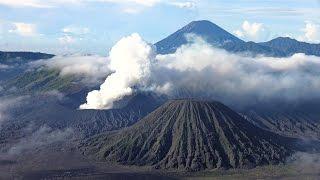 bromo tengger semeru national park indonesia in 4k ultra hd
