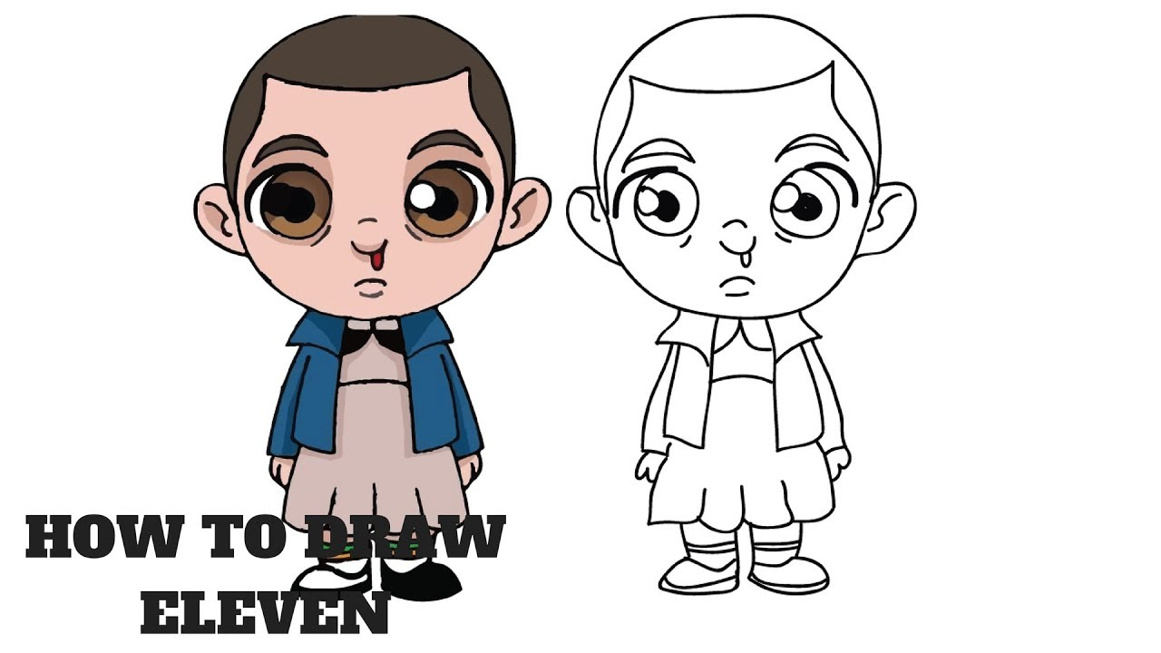 How to Draw Eleven | Stranger Things Step by Step - YouTube