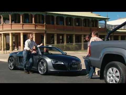 Volkswagen Amarok vs Audi R8 Spyder Top Gear Australia