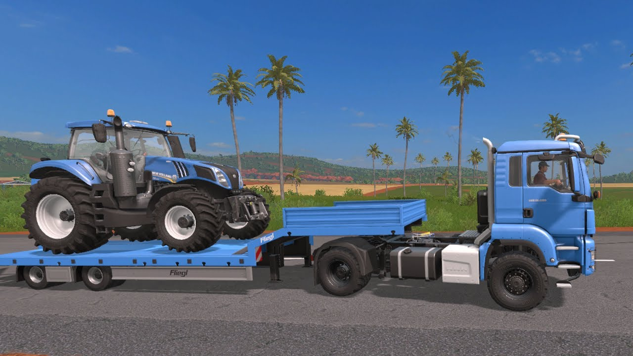 Tractor Transport. New Acquisition - Traktor New Holland T8 and Truck. Traktory i Transport