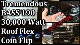 TREMENDOUS BASS - Roof Flex Coin flip (LAUNCH) + Slo Mo - 4 18