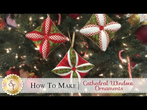 How to Make a Cathedral Window Ornament | with Jennifer Bosworth of Shabby Fabrics