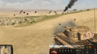 Theatre of War 2 Africa 1943 - Tiger vs M4 Sherman Gameplay