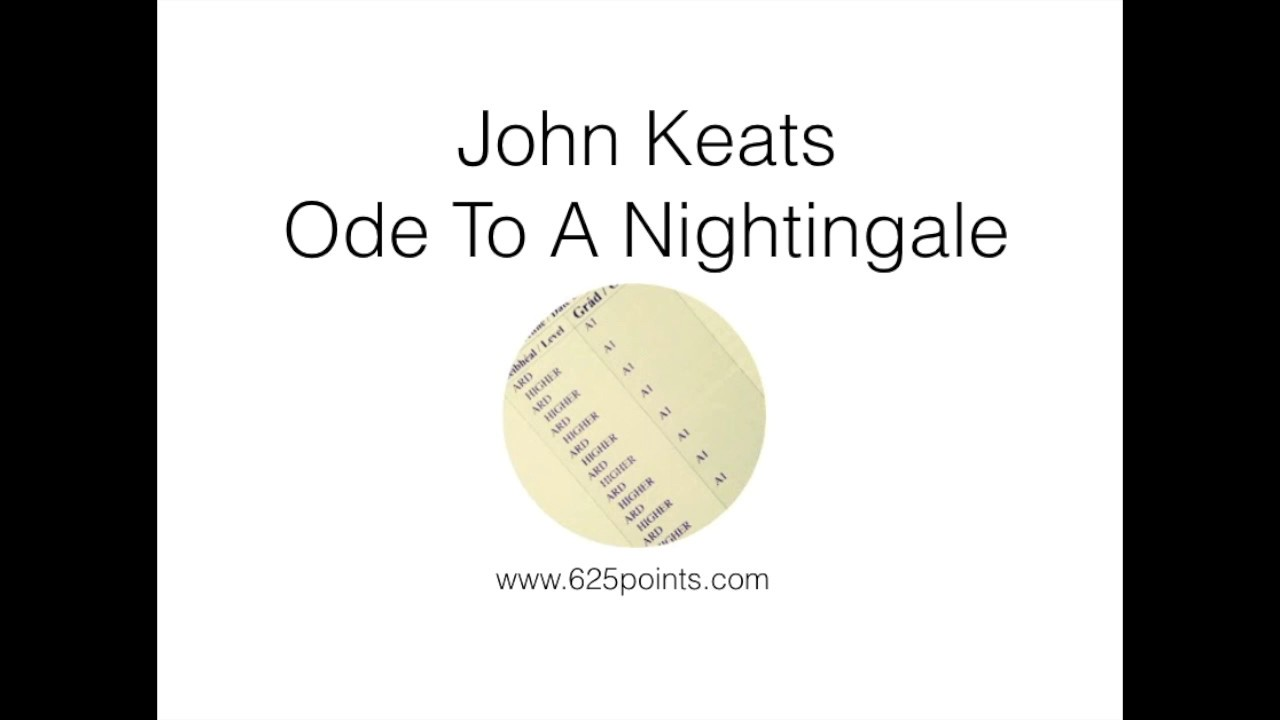 john keats ode to a nightingale 625 points leaving cert english john keats ode to a nightingale 625 points leaving cert english