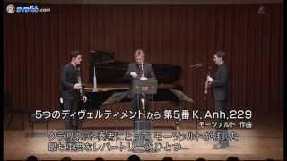 The Clarinotts in Tokyo- Mozart Divertimento no 5 - Ernst, Daniel & Andreas Ottensamer