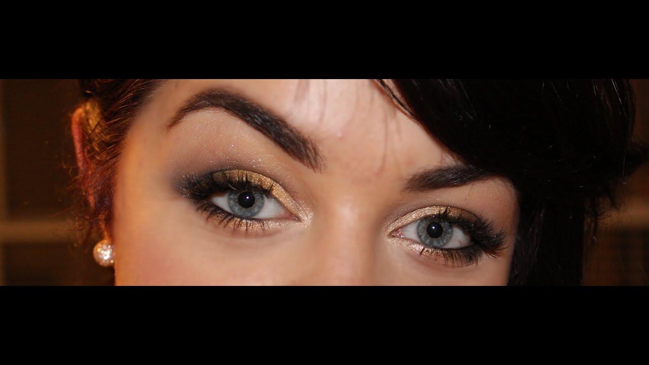 Maquillage Dor Pour Les Yeux Bleus Youtube
