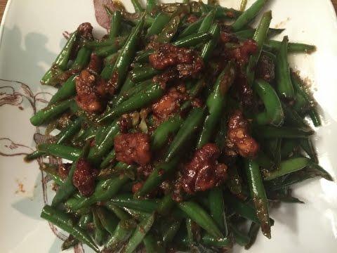 VEGAN STIR FRIED GREEN BEANS-CAMBODIAN/KHMER/ASIAN HEALTHY FOOD