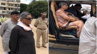 SM Krishna Along With DK Shivakumar Leaves to Chikkamagaluru in Chopper for Siddhartha's Last Rites
