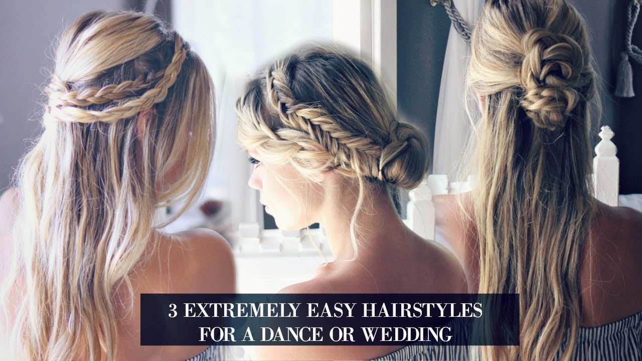tutorial: 3 hairstyles for a dance or wedding (very easy)