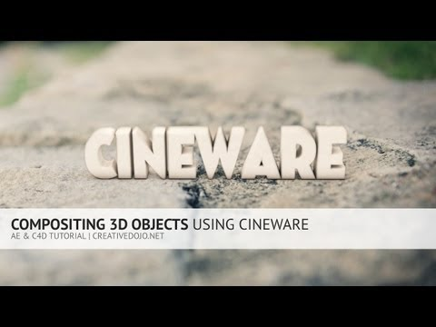 AE: Compositing 3D Objects Using Cineware & Cinema 4D