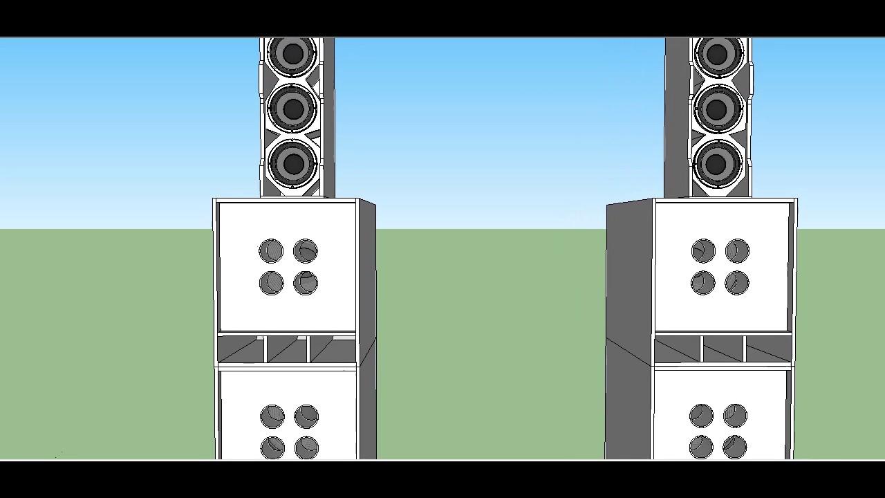 18 EIGHTEEN SOUND Single 21 BandPass Subwoofer Speaker