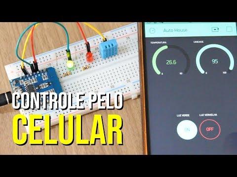 Como Controlar O Arduíno Pelo Celular - Automação Residencial Com BLYNK, ESP8266 E WEMOS D1 MINI