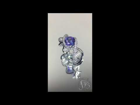 DNA Platinium RING by the jeweler Frederic Bonnet