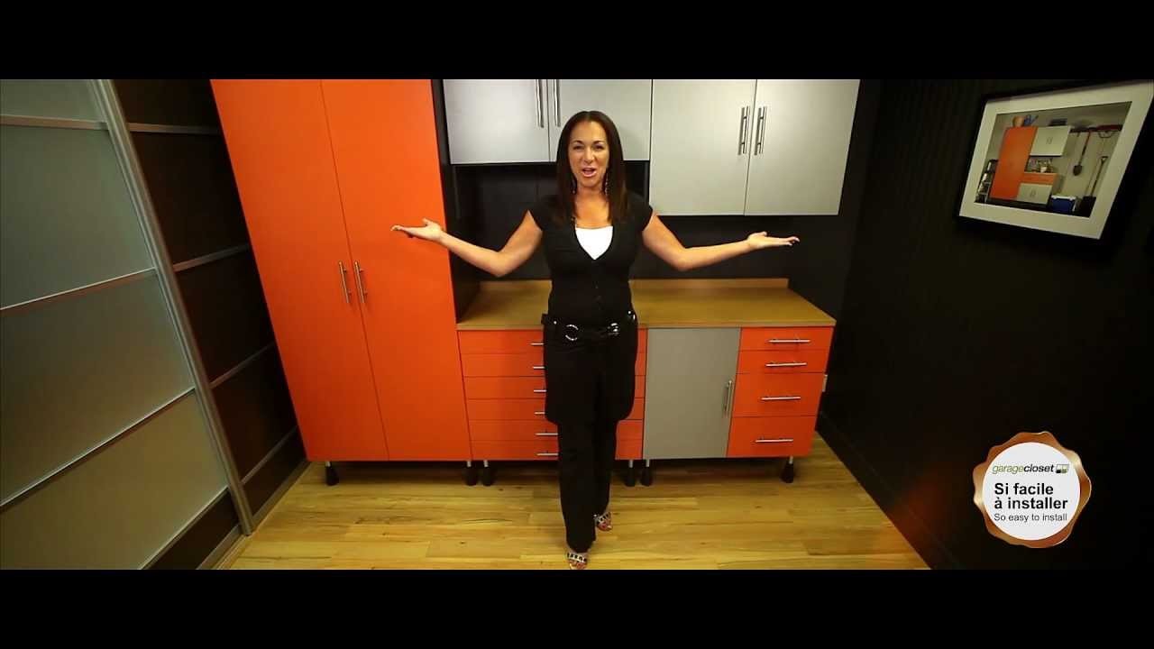 garage closets syst me de rangement youtube. Black Bedroom Furniture Sets. Home Design Ideas