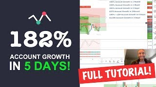 FOREX Strategy! 182% Account Growth In 5 Days Full Tutorial!
