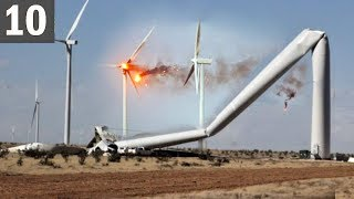 TOO MUCH WIND! 10 Wind Turbine Fails