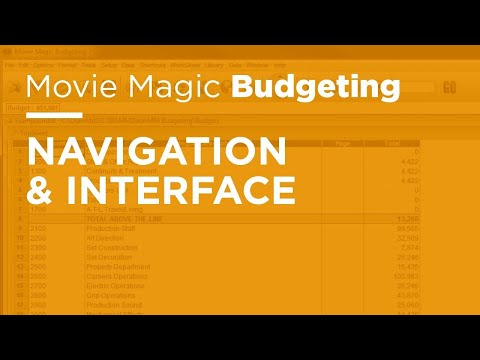 Movie Magic Budgeting - Navigation & Interface