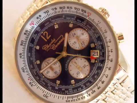 Charles Conrad Gold Plated Air Commander Pilots Watch