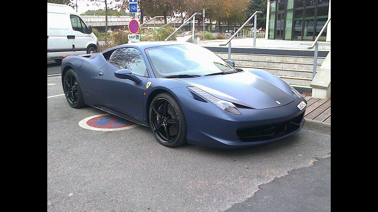 Matte Dark Blue Ferrari 458 Italia Reims 2013 Youtube