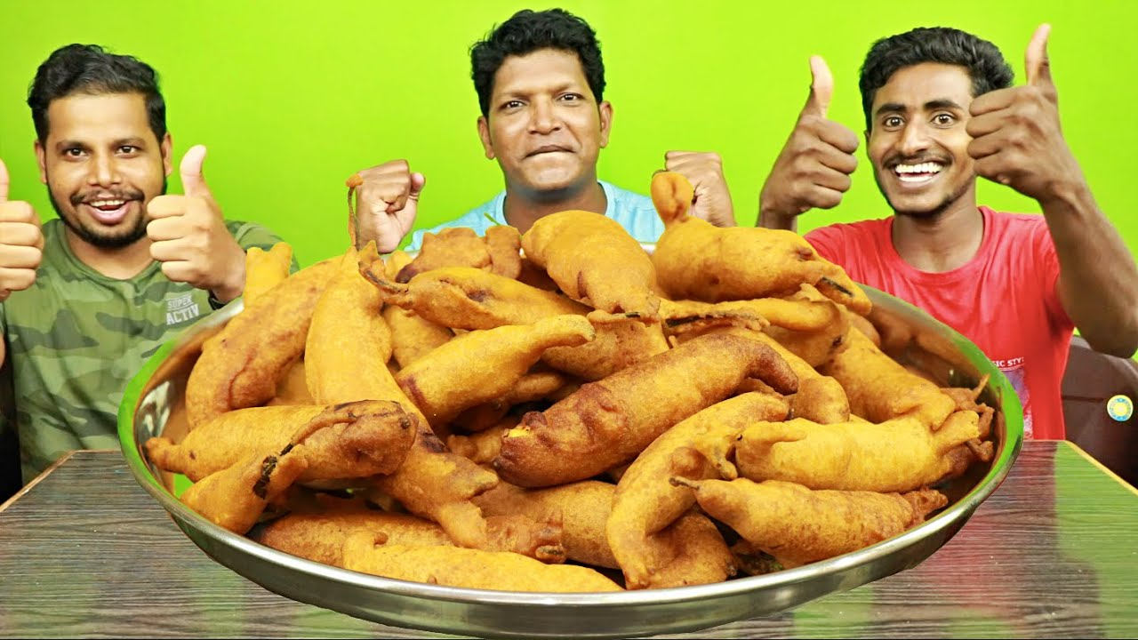 DHER SAARE SPICY MIRCHI BAJJI EATING IN MINUTES