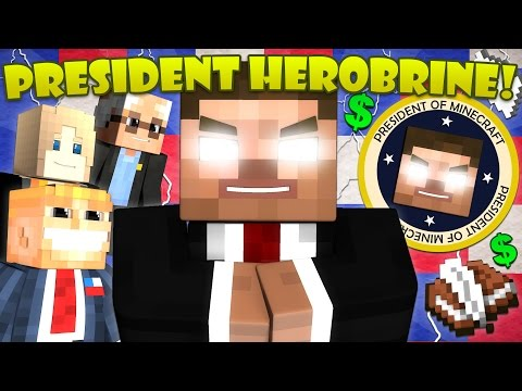 Thumbnail: If Herobrine Ran for President - Minecraft