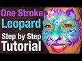 Leopard Kitty Cat Face Paint Tutorial Face Painting Classes