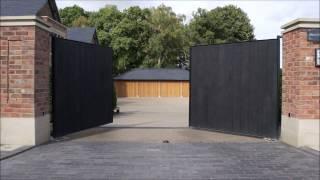 Shou Sugi Ban Gates by lakesdoors.co.uk