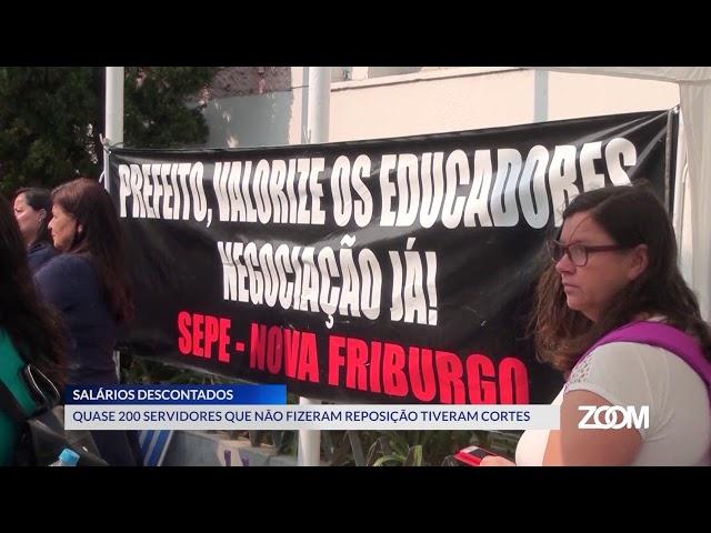 03-12-2019 - SERVIDORES DA EDUCAÇÃO TIVERAM CORTES NO SALÁRIO - ZOOM TV JORNAL