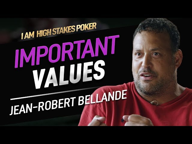 Jean-Robert Bellande talks Values - I Am High Stakes Poker