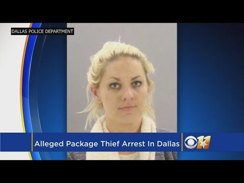 Dallas Police Take Package Thief Off The Streets