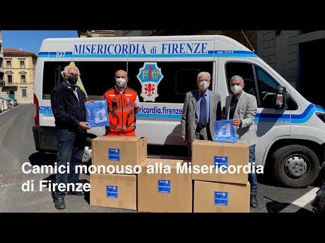 Camici monouso alla Misericordia di Firenze