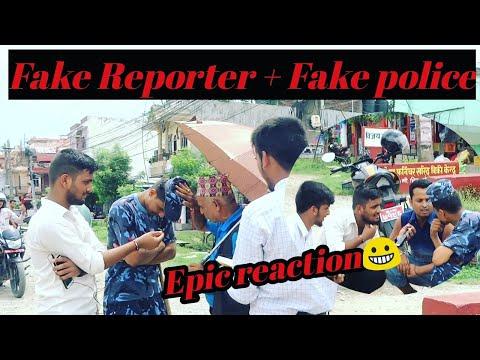 Nepali Prank-fake Reporter & Fake Police Prank/awesome Nepalese