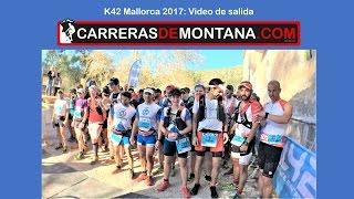 K42 mallorca 2017: Video salida todo el pelotón. Serra Tramuntana, finca Galatzó.