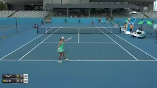 M. Georges applauds the chair umpire  after he commits a serious mistake on  Championships's point